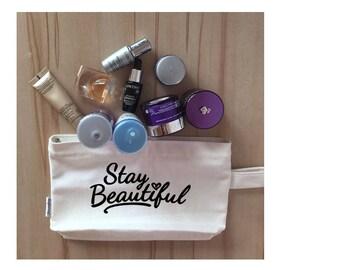 Stay Beautiful cosmetic bag