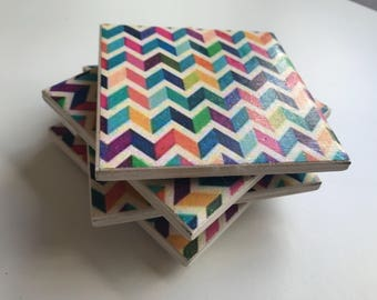 Reverberate tile coasters