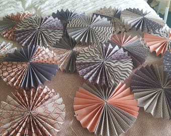 Handmade paper fans (16 available)