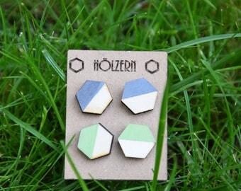 Earrings grey/green