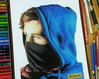 Colour pencils Portraits
