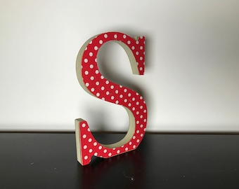 Wooden Freestanding Decoupage Letters 20cm... Made to order, choose your letters & design, Wedding, Housewarming, Personalised gift