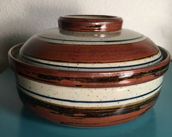 Beautiful Pottery casserole dish with lid