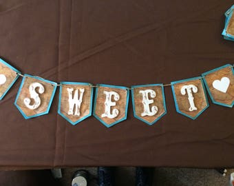 How Sweet it is- Shabby Chic-Vintage Wooden Letter Banner