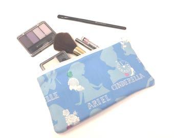 Cosmetic Bag, Makeup Brush Holder, Make-up Bag, Makeup Bag, Pencil Case, Makeup Organizer, Makeup Organizers, Zipper Pouch, Princess, Ariel