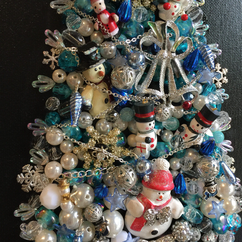 Jewelry Christmas Tree Christmas Wall Decor Jeweled Christmas Tree ...