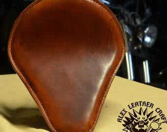 Handmade Bobber Seat Buffalo Brown