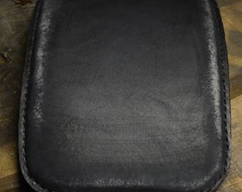 Pillion Seat Pad for Harley/Bobber Black Vintage