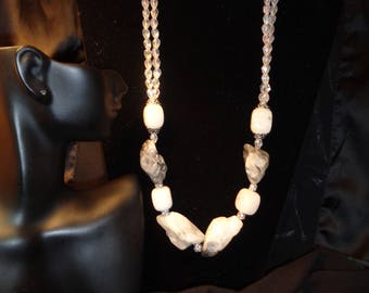 Natural  Metamorphic Stone Necklace Set