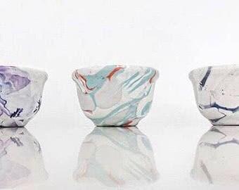 Blue and Orange Modern Mini Ceramic Bowl