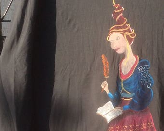 Hand painted t-shirt size 2XL