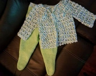 Baby boy crochet set