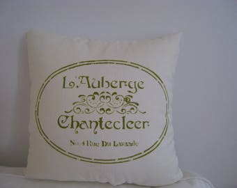"L'Auberge Chantecleer French Chic/ 17"" X 17"" Decortive Cushion"