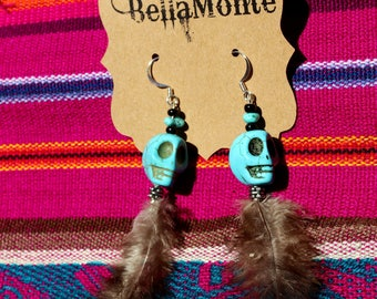 Dia de los muretos skull earrings