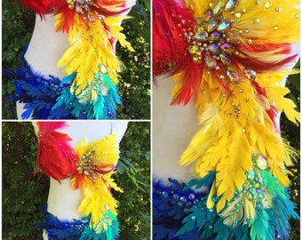 Parrot Costume {READY TO SHIP!} 34B/C Top• M Bottoms {See the matching Pirate!} Halloween Costume