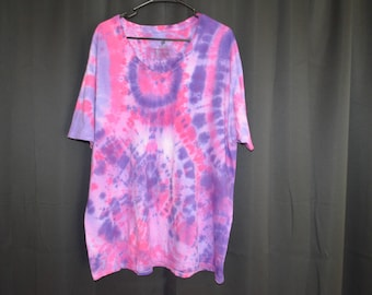 Purple and Pink Tie Dye T-Shirt