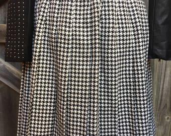 Vintage retro Jacqueline Eve wide pleated skirt