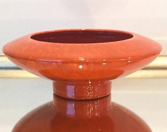 Vintage Freeman McFarlin California pottery #529 orange drip glaze footed planter