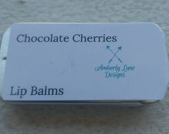 Chocolate Cherries Lip Balm- 2 oz tin