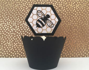 Bee Theme | Gender Reveal Cupcake Toppers