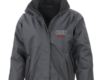 Black Audi Embroided Core Jacket StormDri Fleece Lined S Line A3 A6 Q7