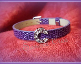 Bracelet leather color and letter choice