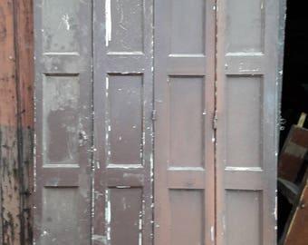 4 strands worn wood trim painted 1940 h217cm ep