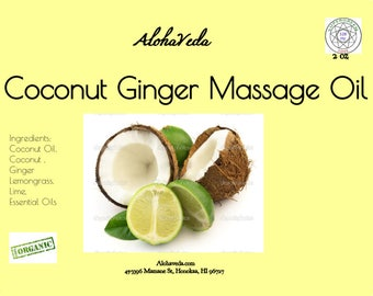 Coconut Ginger Massage Oil