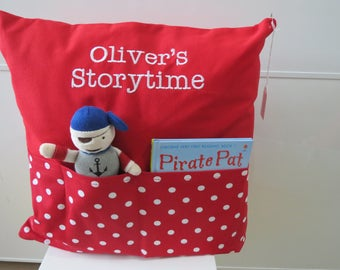 Storytime Cushion - with Pirate toy & Book