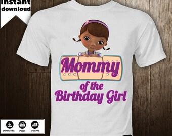 Doc McStuffins Iron On Image Printables  Transfer  Birthday  Shirt Personalized T-Shirt   DIY - DIGITAL FILE