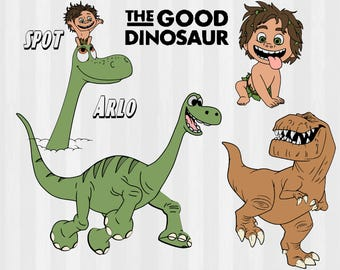 The Good Dinosaur SVG and Clipart bundle, Arlo svg, disney svg, svg files for silhouette, cricut cut files, vector