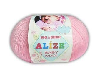 Baby Wool Alize Yarn for knitting Crochet yarn Hand knit yarn Color choice Baby Yarn Baby wool Bamboo Hypoallergenic yarn Antibacterial yarn