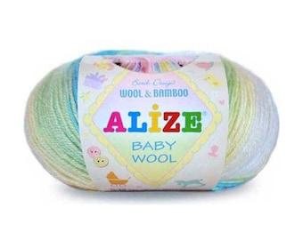 Baby Wool Batik Alize Yarn for knitting Crochet yarn Hand knit yarn Color choice Baby Yarn Baby wool Hypoallergenic yarn Antibacterial yarn