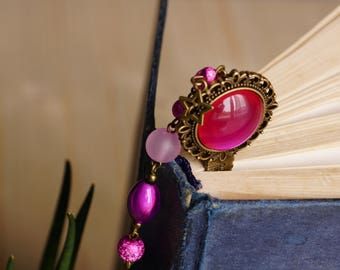 Bookmark pink iridescent