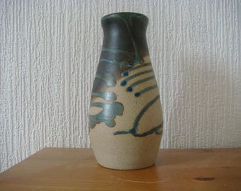 Hand thrown stoneware pottery vase