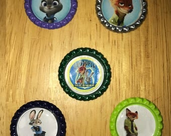 Zootopia  Magnets/Keychains ***free domestic shipping***