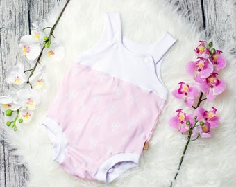 Baby summer rompers * Cactus pink *.