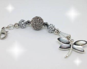 Dragonfly - Black AB & Silver