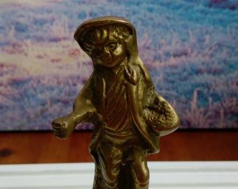 brass human figurines,brass children figurines,solid brass figurines