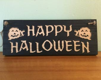 Free shipping Halloween sign. Happy Halloween. Halloween decor , Halloween decoration, Halloween party decoration