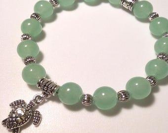 Jaded Turtle Beaded Bracelet