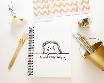 Hand Drawn Premade Logo - One of a Kind OOAK - Cute, Feminine, Hedgehog Woodland Design