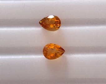 Natural Citrine Pear Cut 9X7MM AA Quality Excellent Cut 1Pc For Jewelry