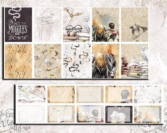 Harry Potter Weekly Kit | planner stickers | erin condren | happy planner | recollections