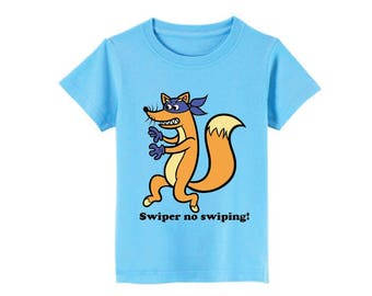 Swiper From Dora The Explorer T-Shirt for children - available in many sizes and colors