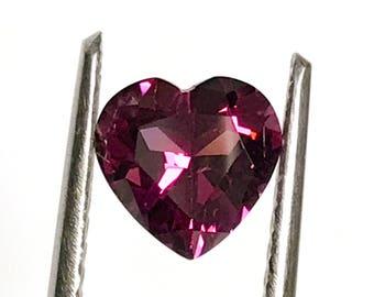 Rhodolite Garnet 7mm heart