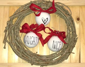 Rae Dunn Inspired Personalized and Custom Christmas Ornaments