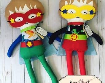 Custom Boy Superhero Doll