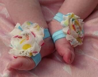 Polka Dot Barefoot Baby Sandals