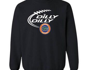 DILLY DILLY Florida Gators shirt Crewneck Pullover Sweatshirt 8 oz